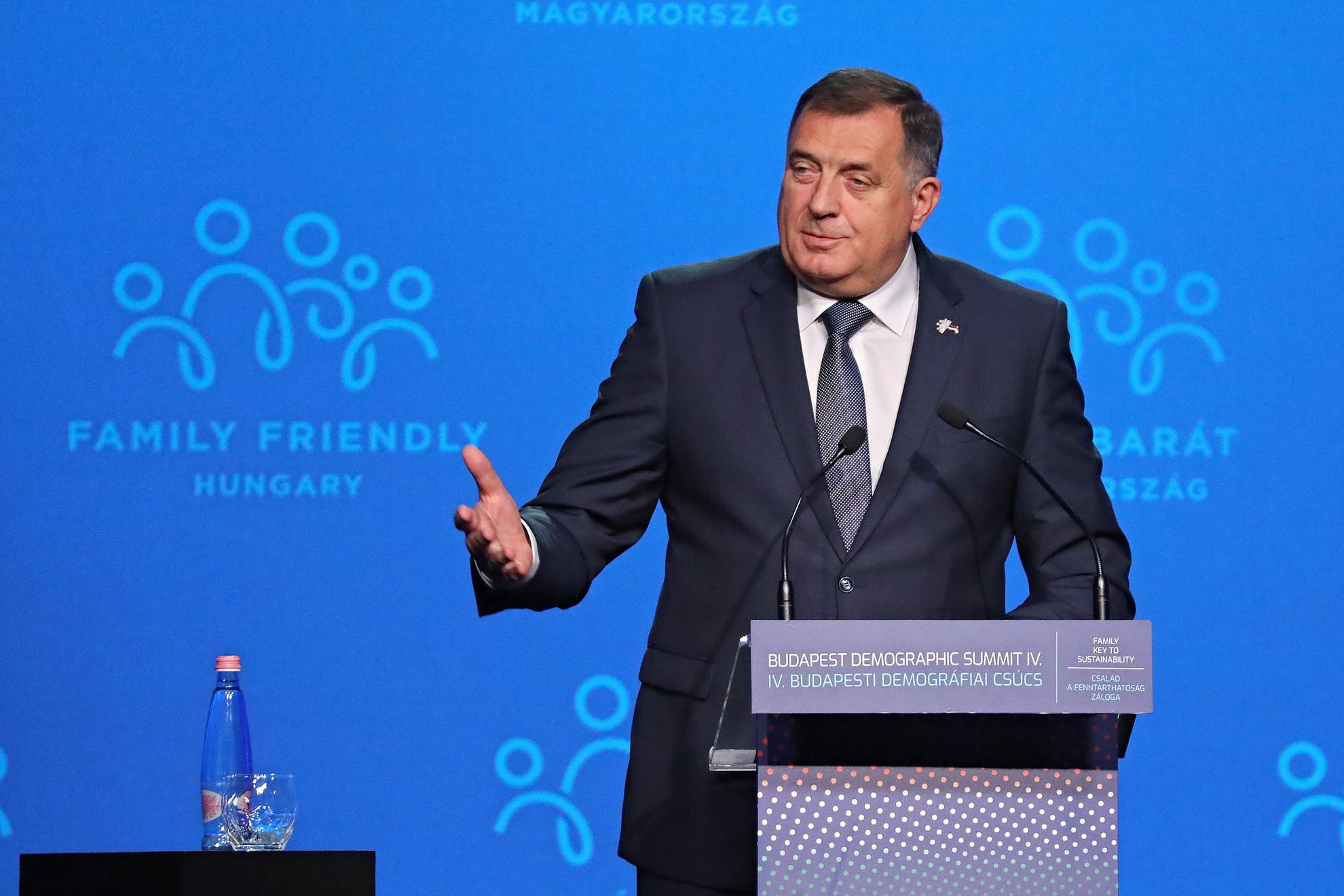 Milorad Dodik, a háromtagú boszniai államelnökség szerb tagja a 4. Budapesti Demográfiai Csúcson