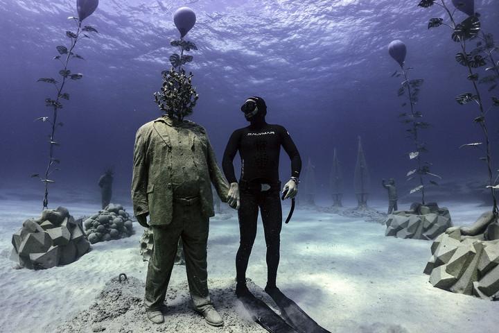 Víz alatti szoborpark és hadi műterem nyílt Ciprus partjainál