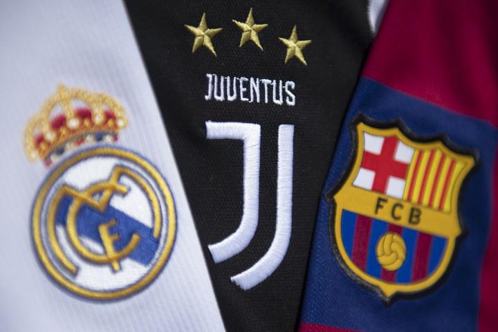Az UEFA felfüggesztette a fegyelmi eljárást a Real, a Juve és a Barca ellen