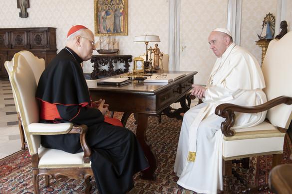 Ferenc pápa magánkihallgatáson fogadta Erdő Pétert