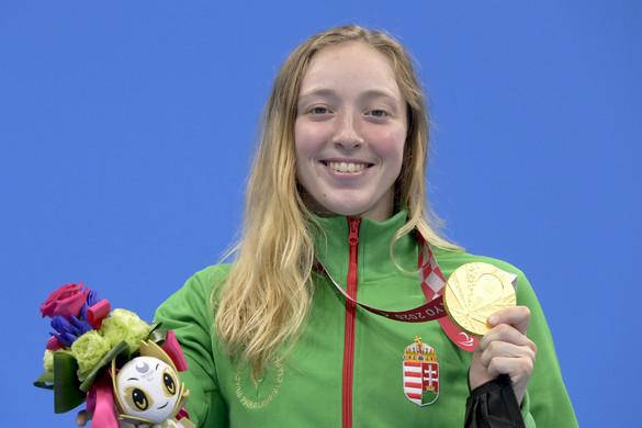 Konkoly Zsófia fantasztikus úszással aranyérmes 100 pillangón