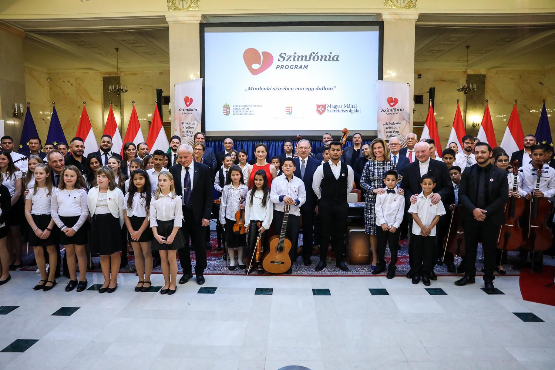 A Szimfónia Program - Mindenki szívében van egy dallam című programsorozat zárókoncertje a Belügyminisztérium Márványaulájában 2021. október 12-én