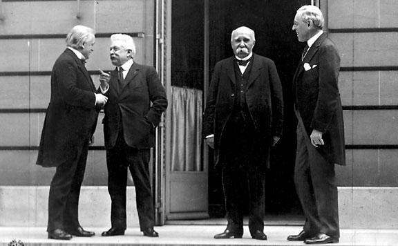 Lloyd George, Orlando, Clemenceau és Wilson 20160604
