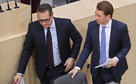 Heinz-Christian Strache és Sebastian Kurz 20171230