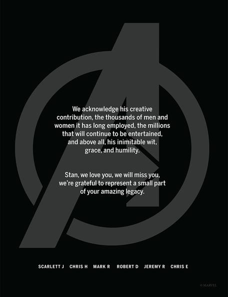 avengers búcsú stan lee
