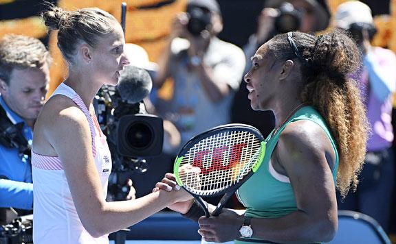 Karolina Plisková és Serena Williams 20190124
